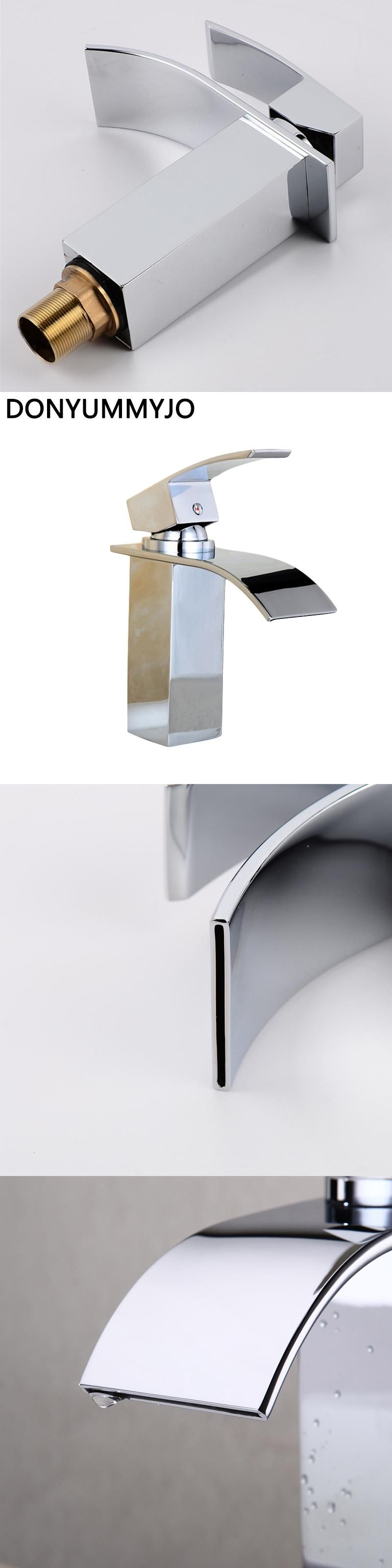 Sale High Quality Waterfall Bathroom Faucet Deck Mounted Chrome ...