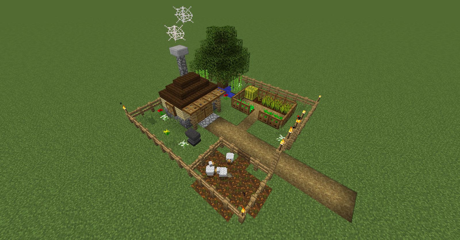 Tiny Homestead Tiny Homesteading Minecraft