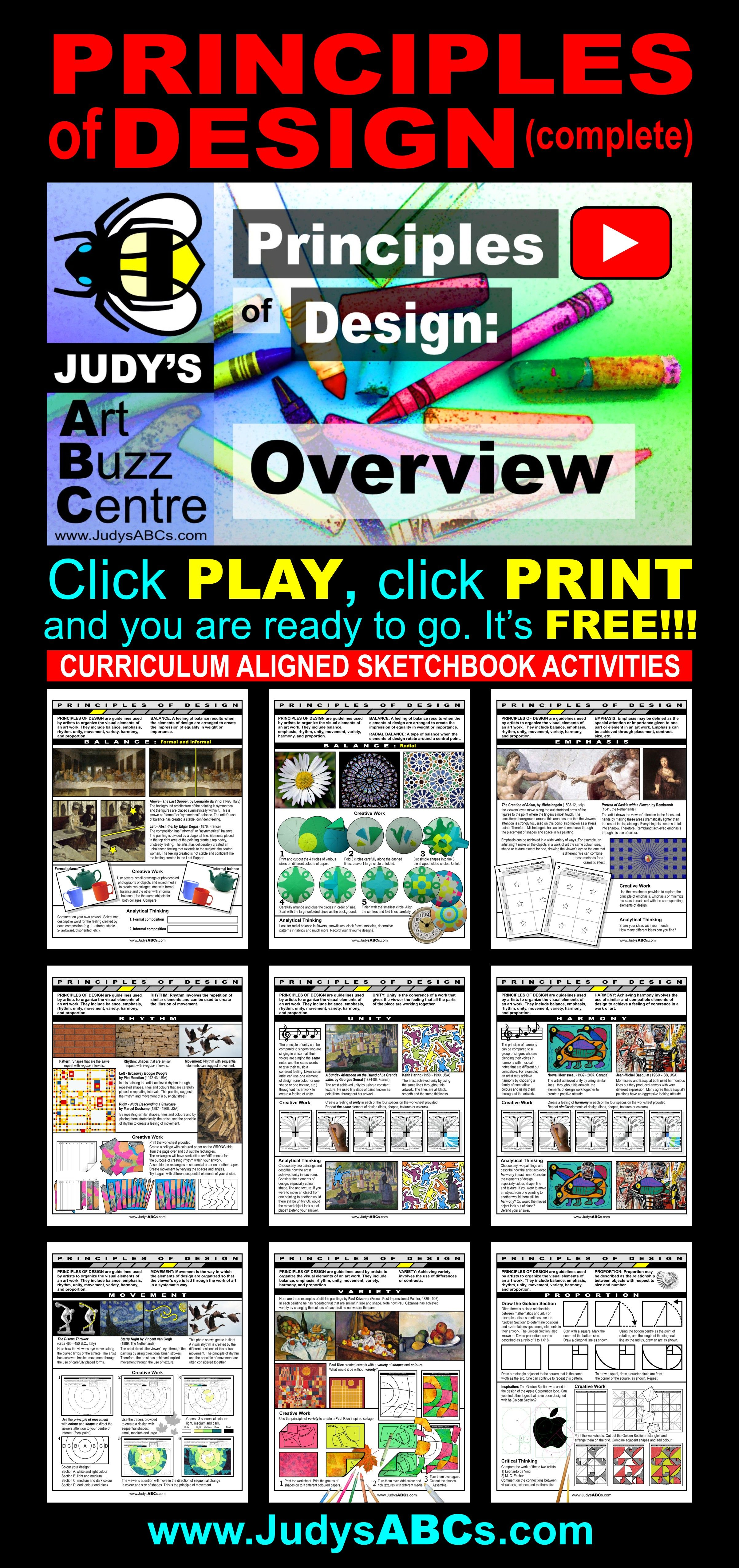 Find Free Intermediate Curriculum Aligned Art Lessons For