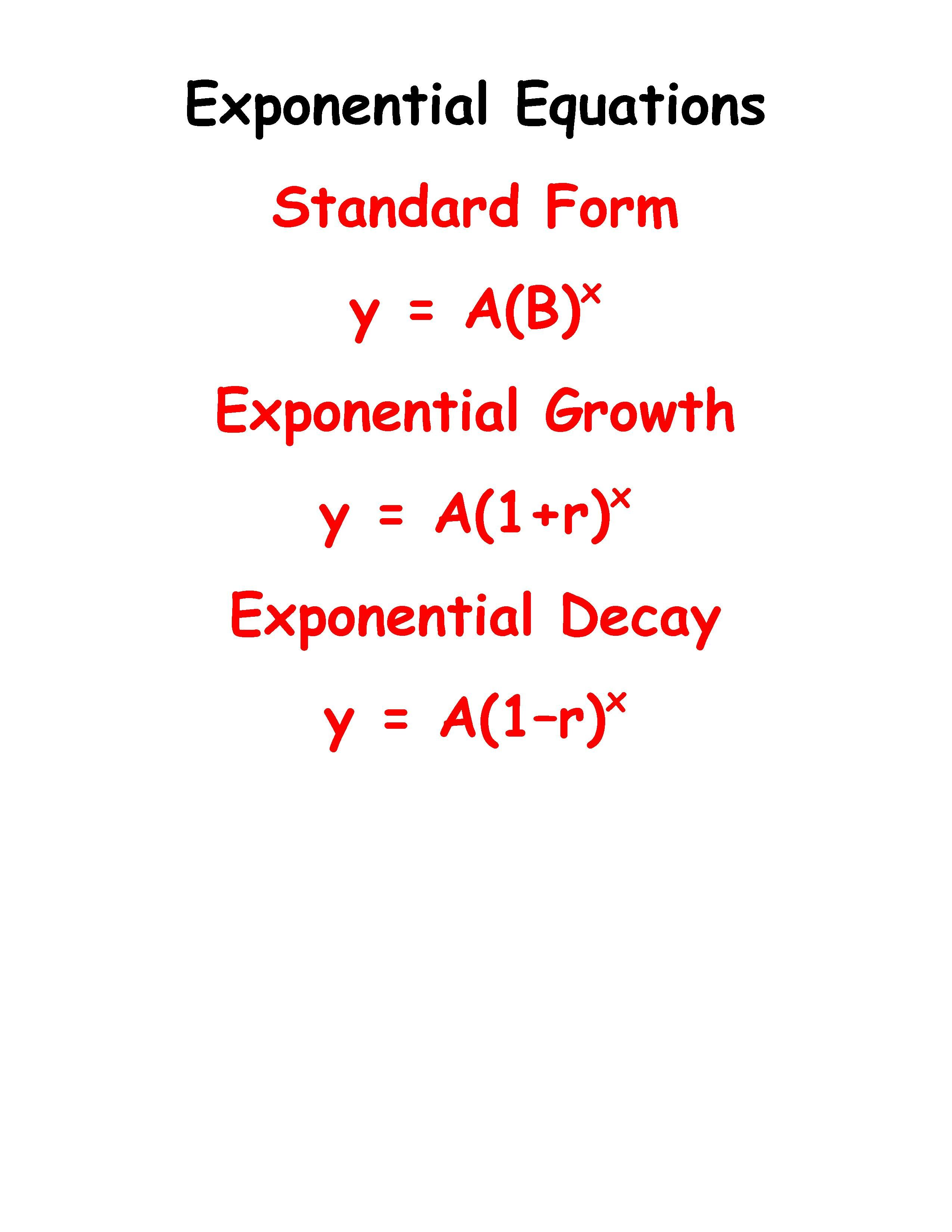 Exponential equations math pinterest equation math and algebra exponential equations falaconquin