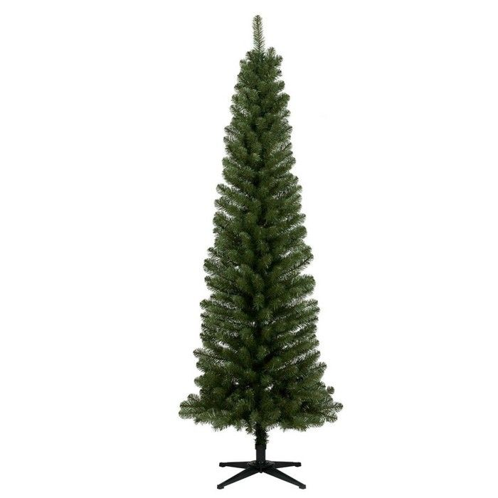 Frosted Slim Christmas Tree: 7ft Unlit Artificial Christmas Tree Slim Alberta Spruce