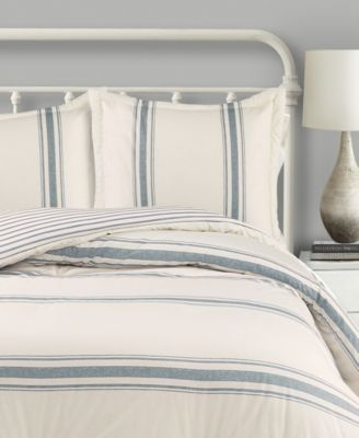 Lush Decor Farmhouse Stripe 3 Piece Comforter Set