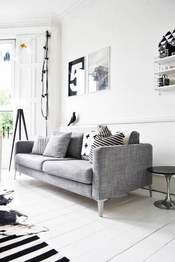 Buy Sofa Light Gray Stripes Scandinavian Scandinavian Living Room Captivating Carpet For Living Room Designs Design Ideas