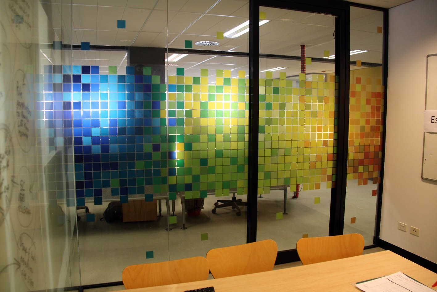 Interior office windows - Pixel Window Graphic