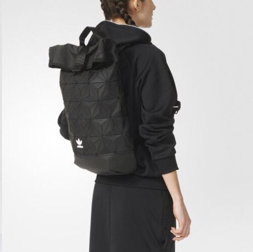 New Adidas X Bao Bao Issey Miyake Roll Up Bp Backpack Black Black Backpack Backpacks New Adidas