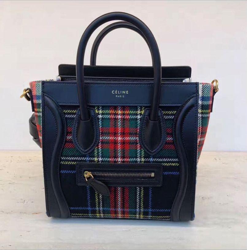 068f2294e9 Celine Tartan Luggage Bag