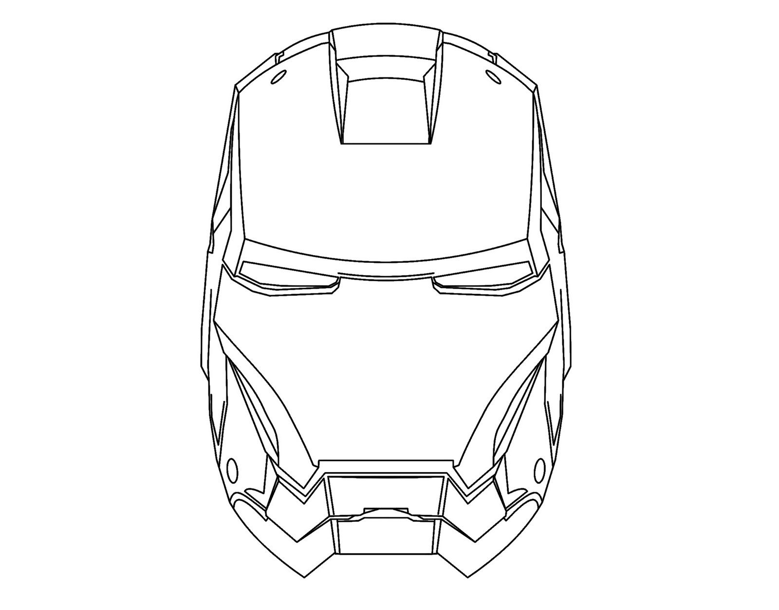 Mask of Ironman Colouring | Free coloring pages for kids | coloring ...