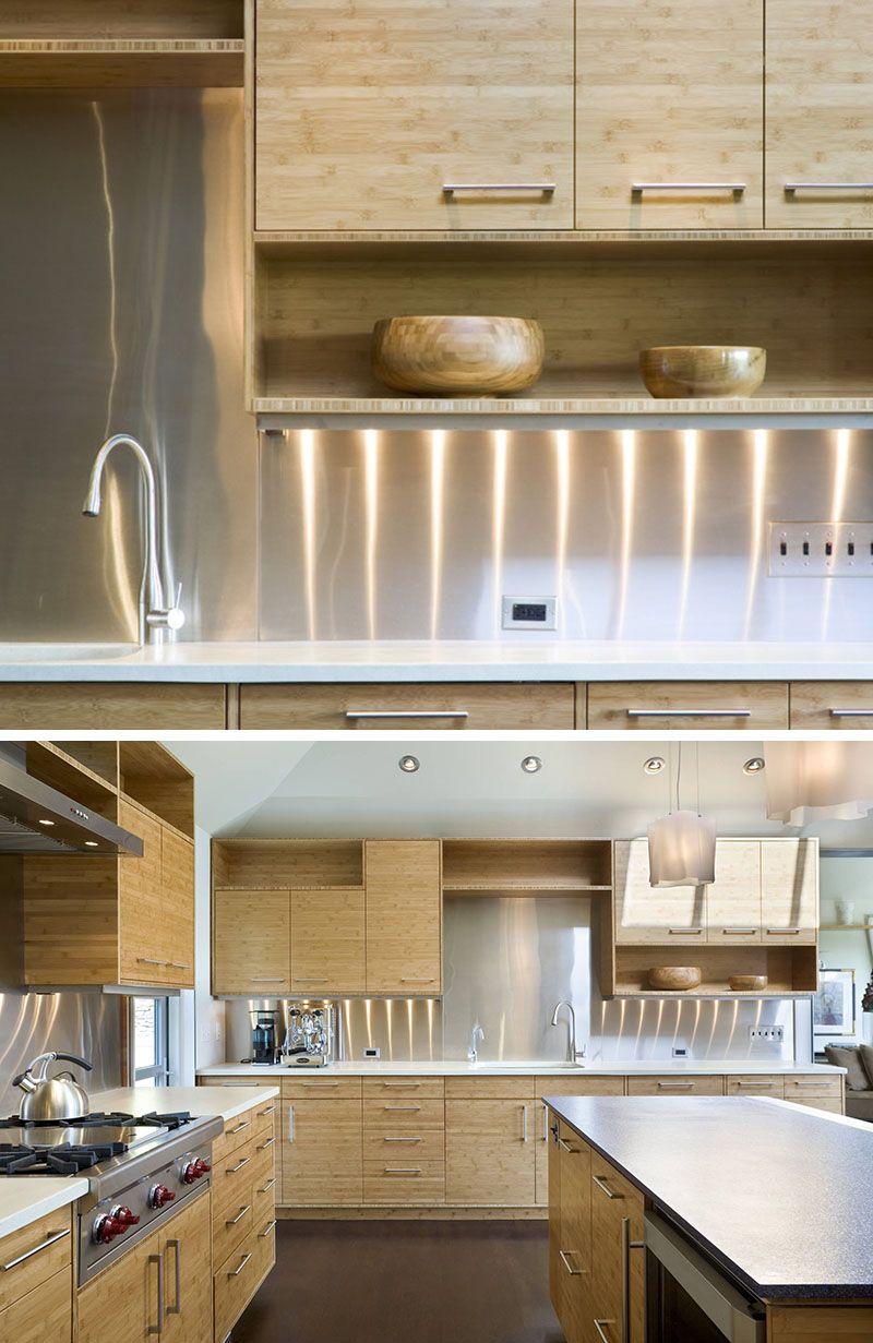 Kitchen Design Idea Install A Stainless Steel Backsplash For A Sleek Look Kitchen Design Backsplash With Dark