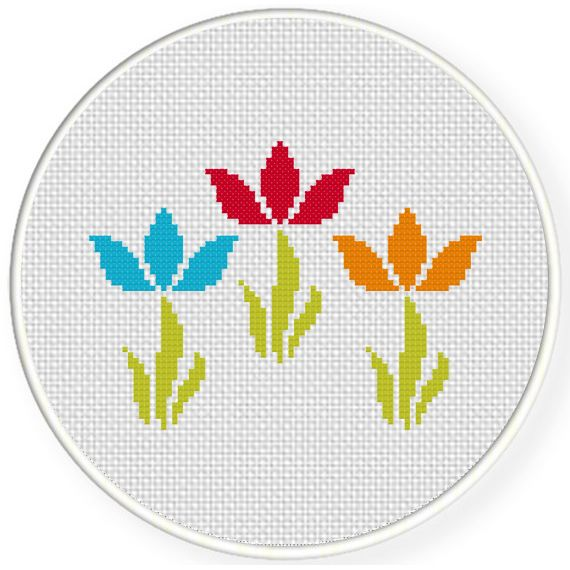 Simple Flower Swirls Cross Stitch Illustration Cross Stitch Patterns Flowers Cross Stitch Flowers Embroidery Flowers Pattern