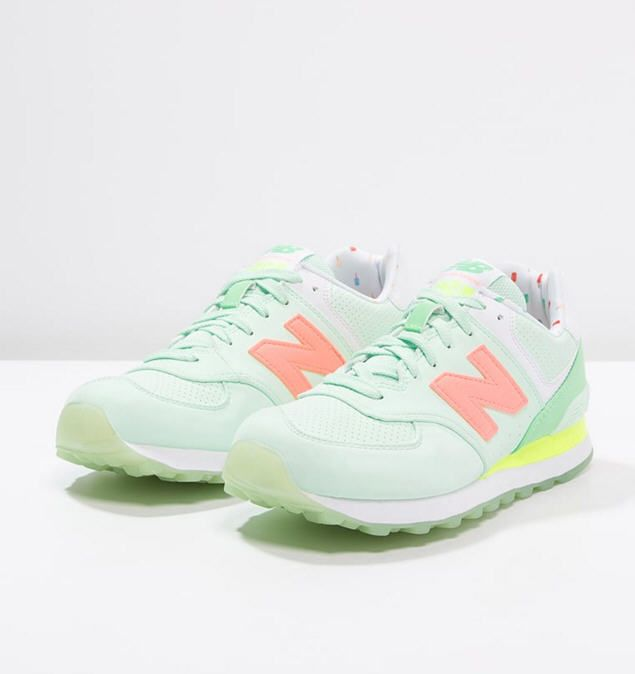 New Balance WL574 Baskets basses seafoam/summer green | Bass, Green ...
