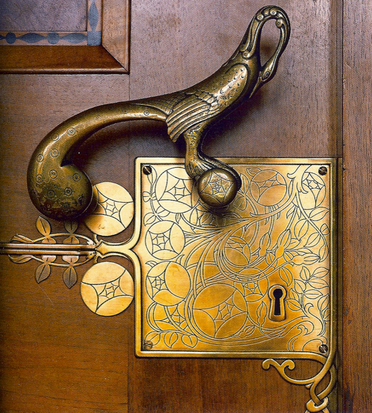 This is the definition of putting a bird on it! A statement door w/ a bird handle & intricate gold keyhole, it really doesn't get any better!