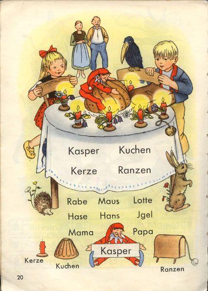 Meine Fibel Ernst Klett Verlag Stuttgart 50er Jahre Kindheit Kinderbucher Altes Spielzeug