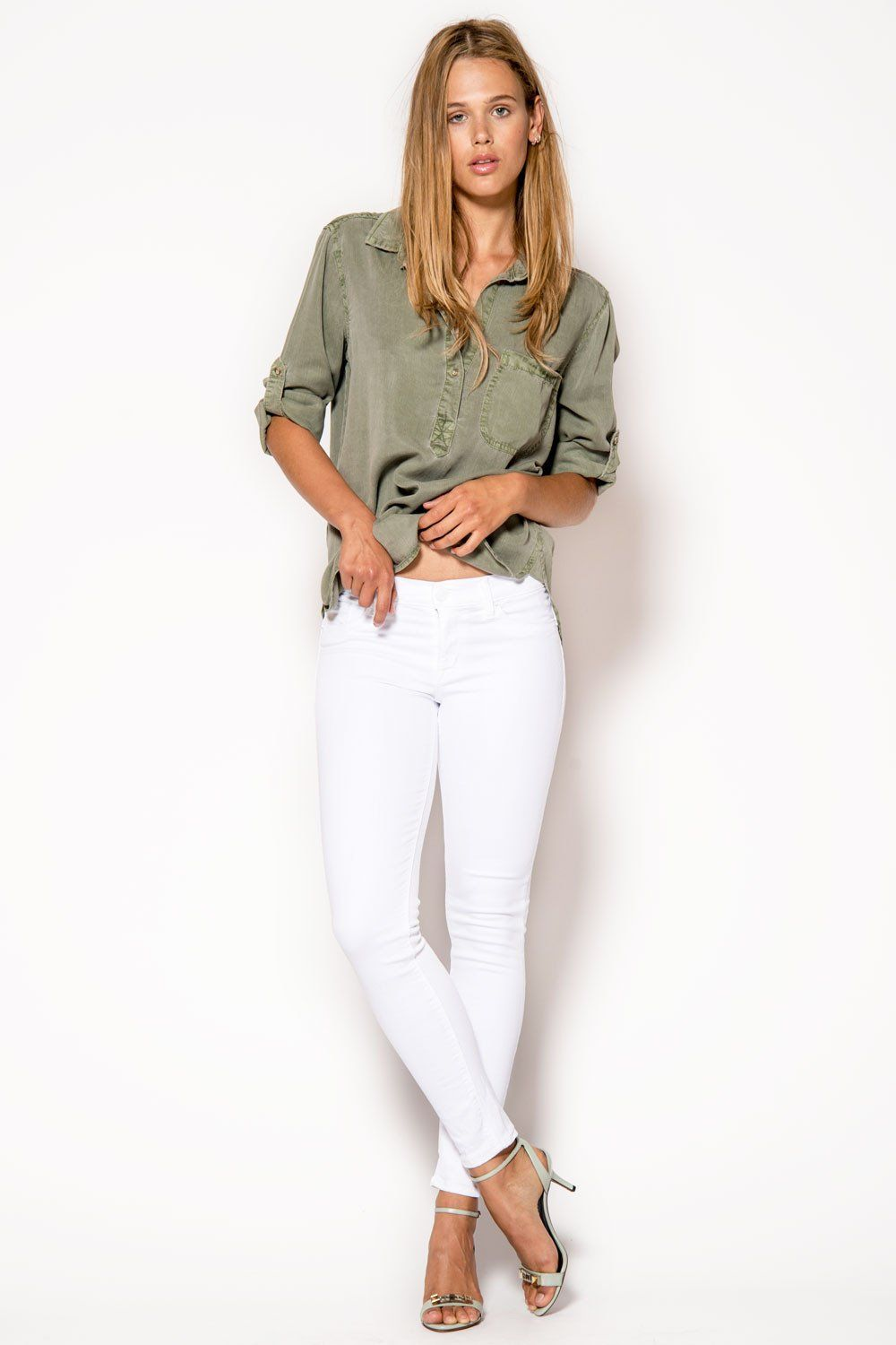 49e30640d8f HUDSON Krista Crop Jeans // White in 2019 | My Style | White jeans ...