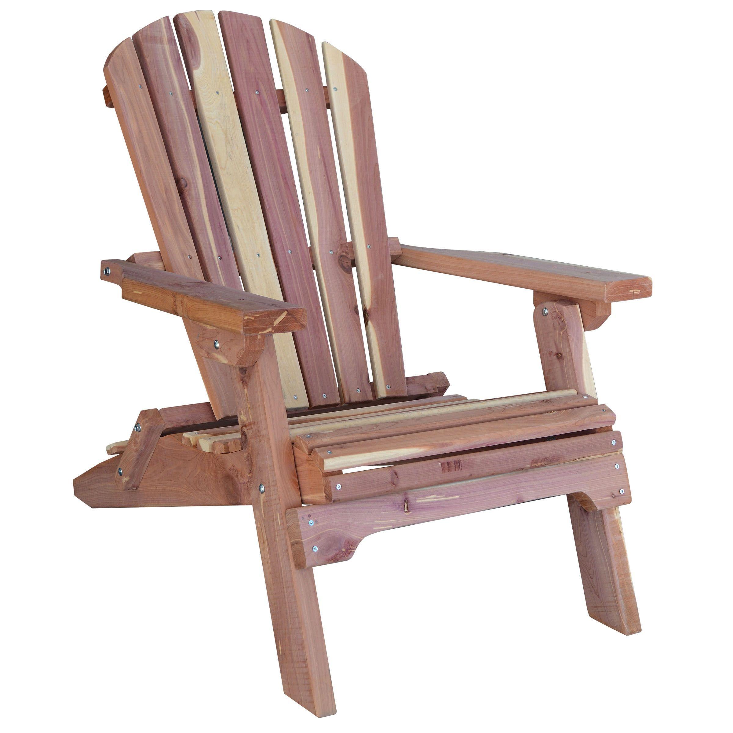 AmeriHome Amish Made Folding Adirondack Chair Brown Size Single