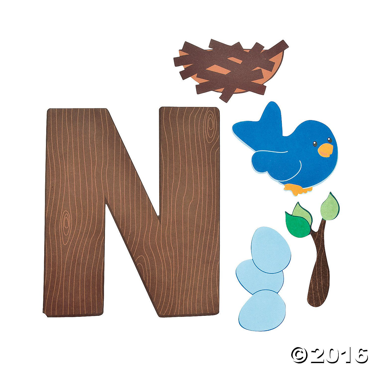 N Is For Nests Letter N Craft Kit 48 A01