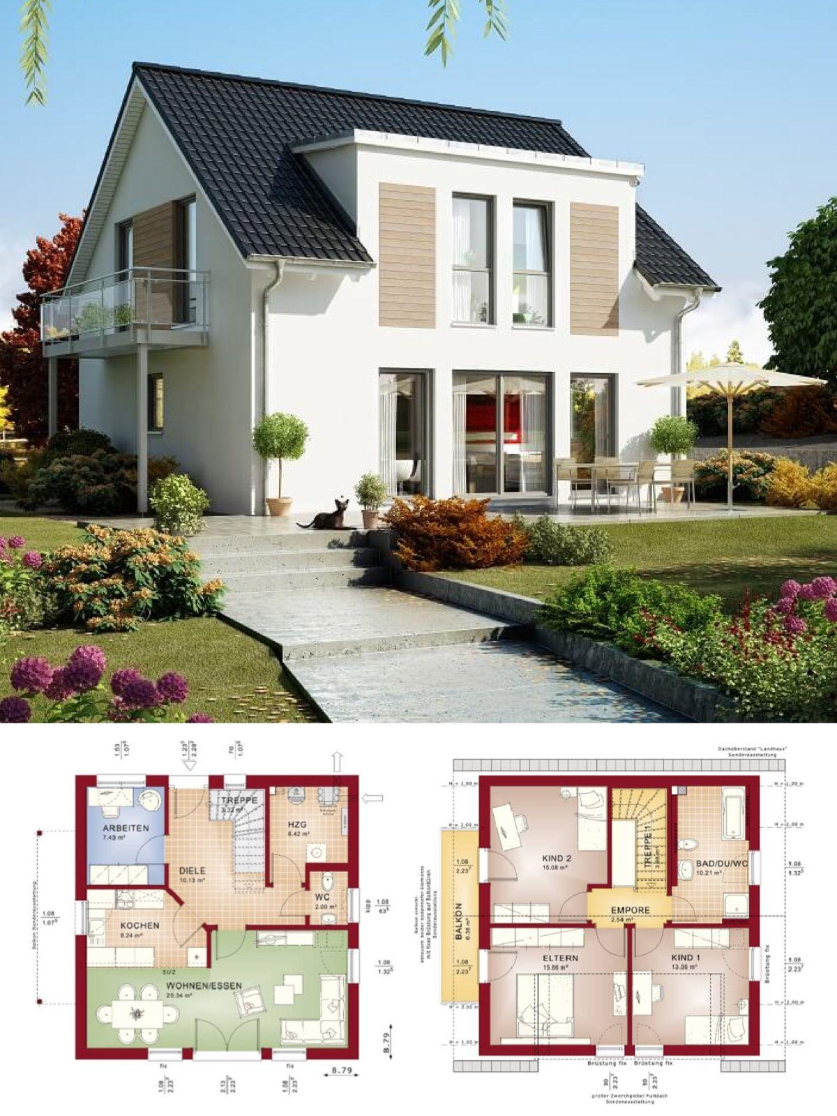 Einfamilienhaus neubau mit satteldach architektur for Hausbau ideen bauplane