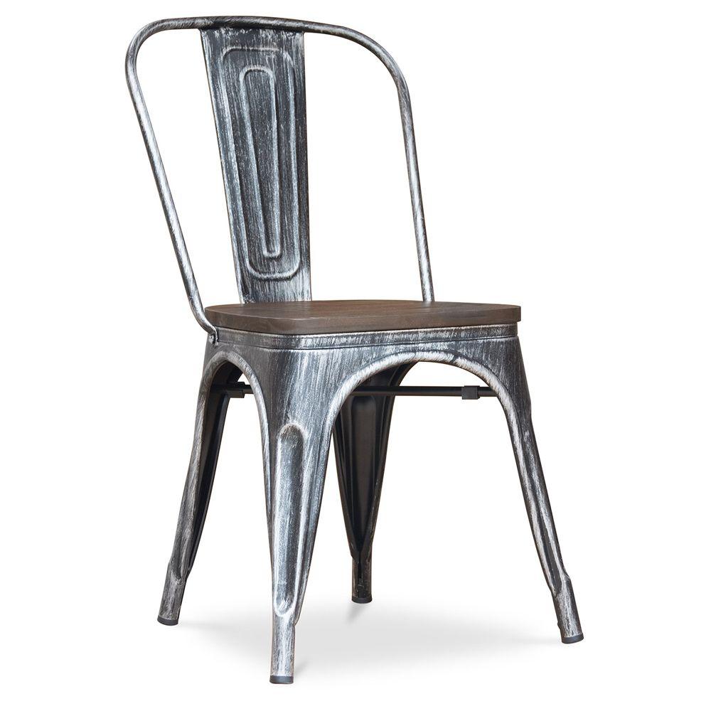Tolix chair Wooden seat Xavier Pauchard Style   Tolix