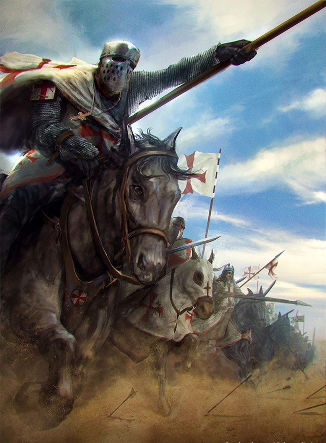 Image result for temple knights attack horse