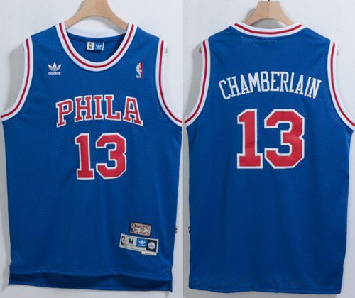 444376fb2 ... nba philadelphia 76ers 13 wilt chamberlain blue throwback stitched nba  jersey