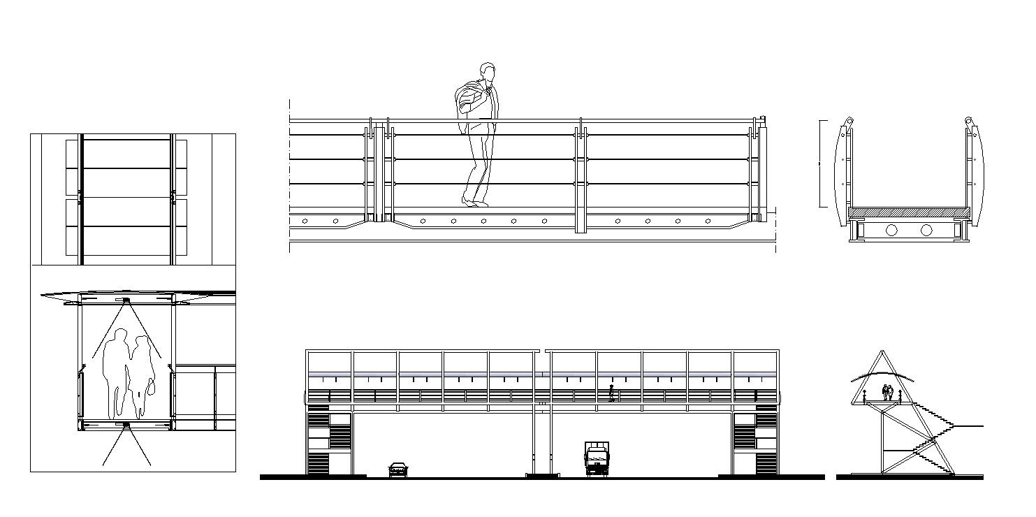 free pedestrian bridge details – cad design | free cad blocks,drawings ,details