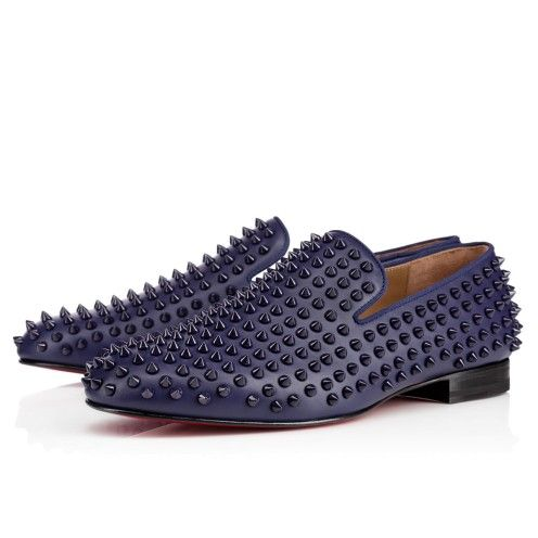 8f772505d Rollerboy Spikes loafer in blue navy by Christian Loubouttin ...