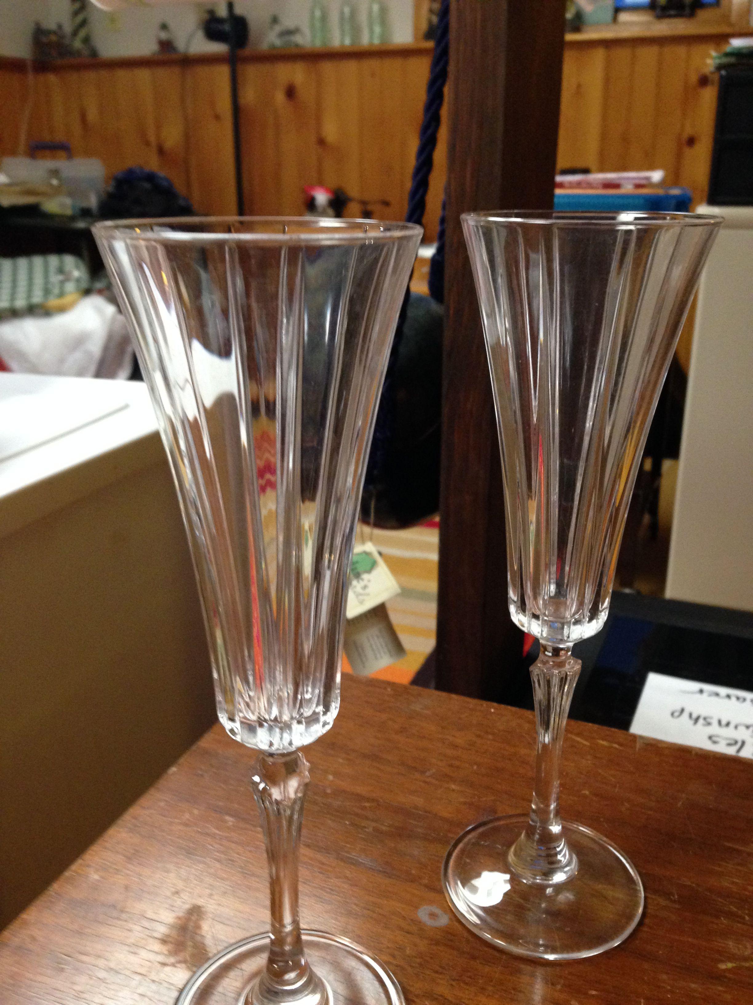 More wine glasses