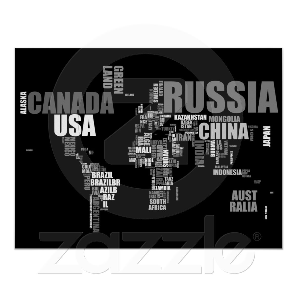 World map in words poster things i neeeed pinterest word poster world map in words print from gumiabroncs Image collections