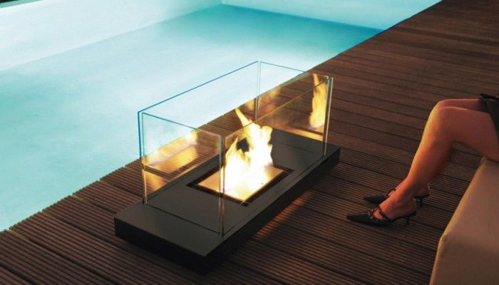 Chimenea bioetanol Uni Flame Radius design Uni and Small fireplace