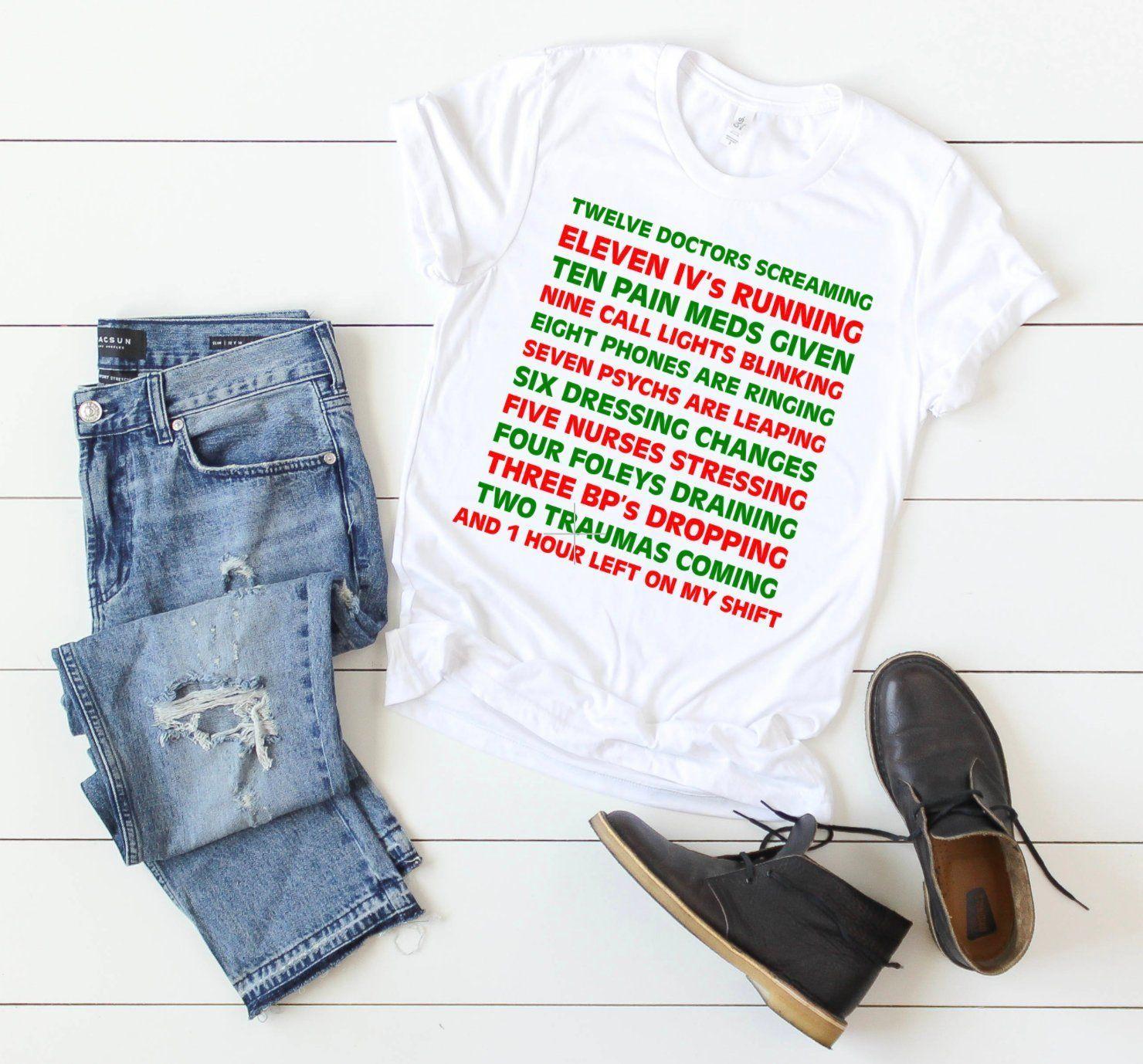 Nurse Shirts, Christmas Nurse Shirts, Christmas Shirts, Nurse Gifts ...