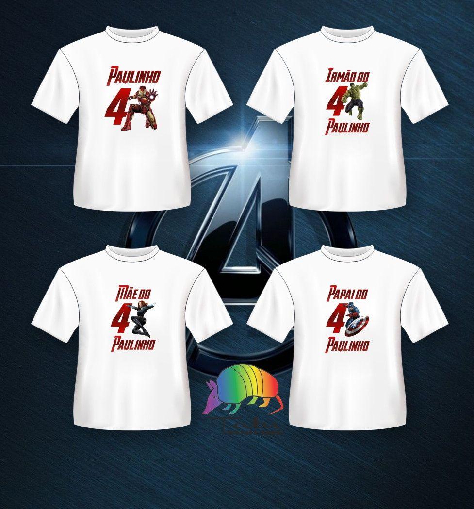Camiseta TOTALMENTE PERSONALIZADA para festas de aniversário. Incluso a  elaboração da arte para a camiseta f5cf685310a27