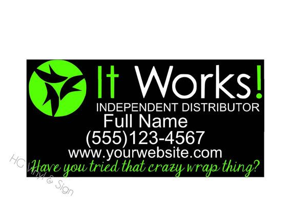 Custom It Works Independent Representative Car by ibreathevinyl, $20.00