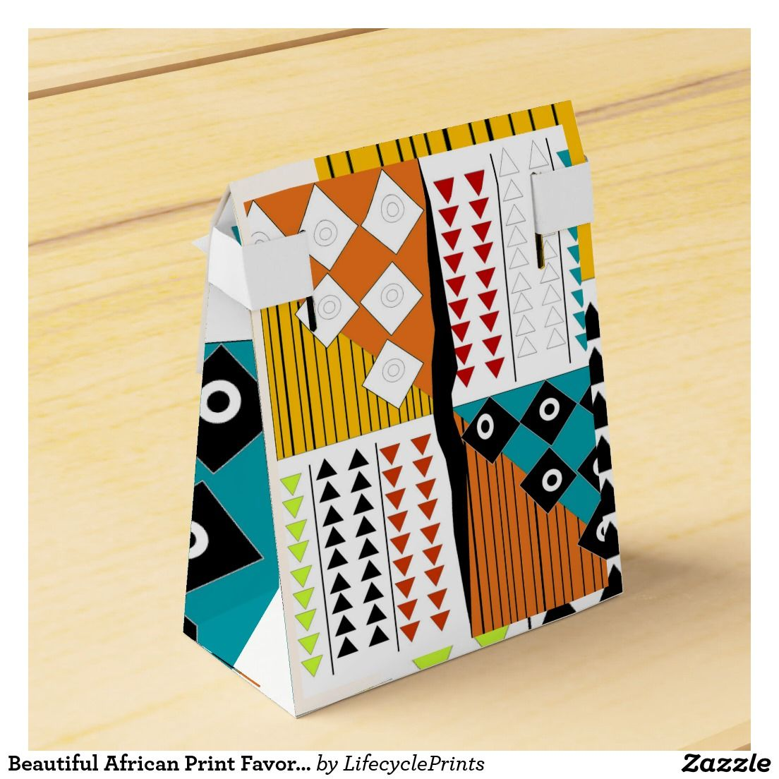 Beautiful African Print Favor Boxes