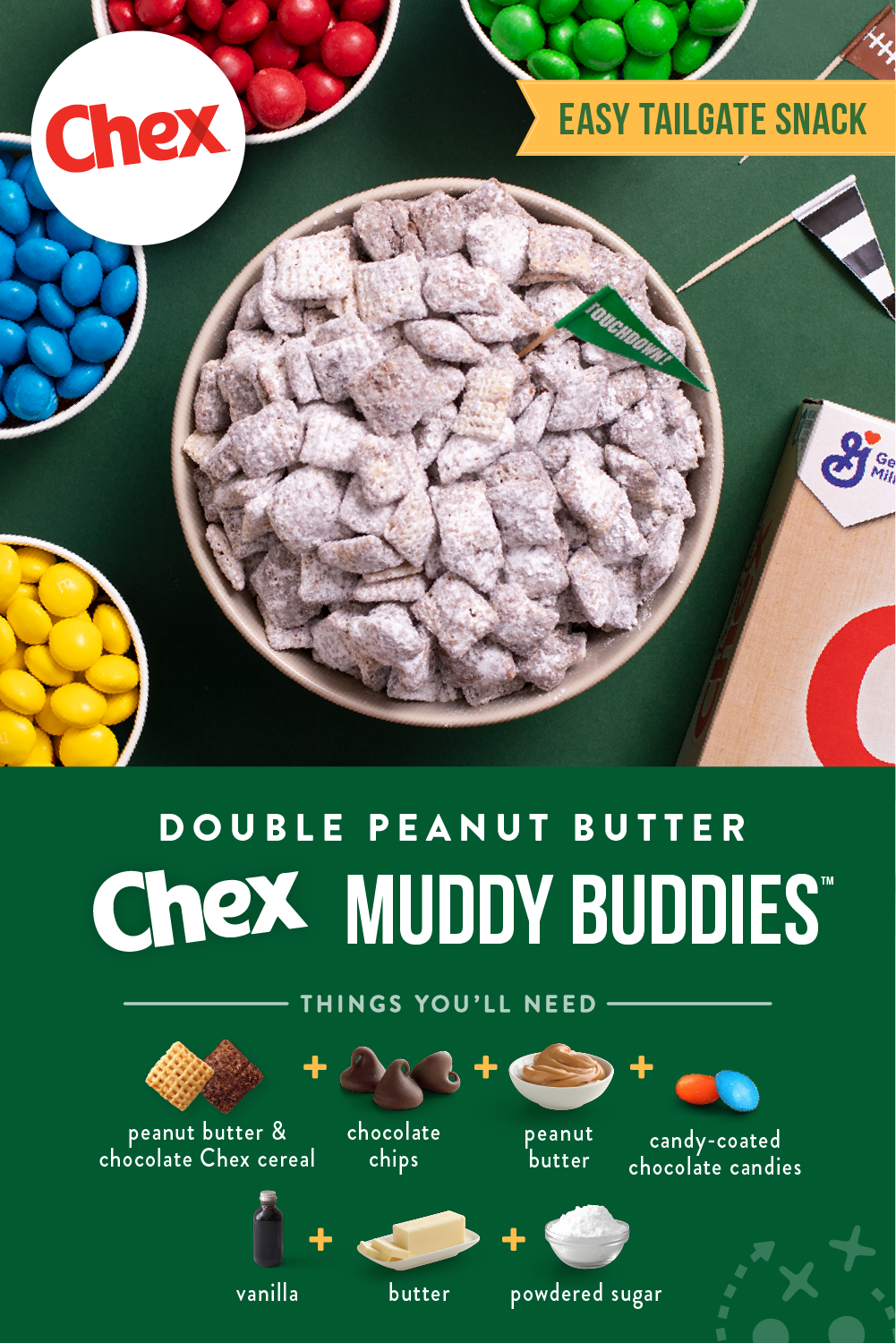Double Peanut Butter Muddy Buddies Recipe In 2020 Snack Mix Recipes Sweet Snacks Chex Mix Recipes