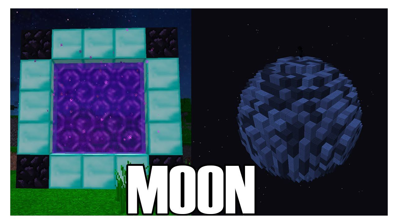 How To Make A Portal To The Moon In Minecraft No Mods Minecraft Creations Minecraft Blueprints Minecraft