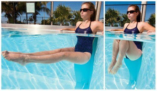 rutina de ejercicios para bajar de peso en la piscina