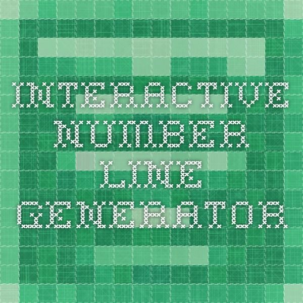 Interactive Number Line Generator | Math: Elapsed Time | Pinterest ...