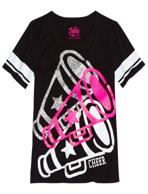 Front Back Sports Graphic Tee Girls Graphic Tees Clothes Shop Justice Justice Clothing Girls Graphic Tee Girls Shopping