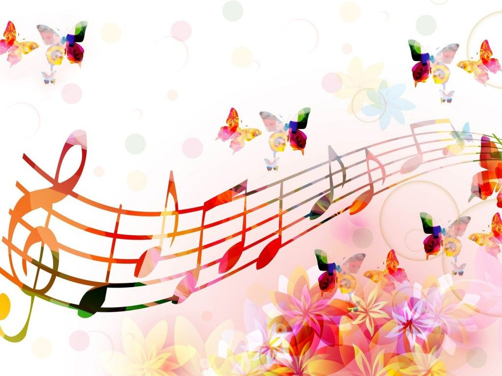 music notes backgrounds floral - photo #7