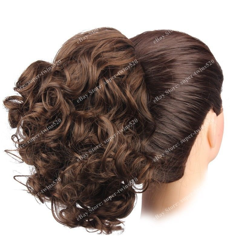 Hair Bun Medium Long Curly Short Ponytail Extensions Drawstring
