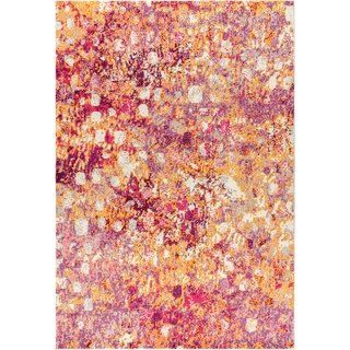 Jonathan Y Contemporary Pop Modern Abstract Pink Orange 5 Ft X 8