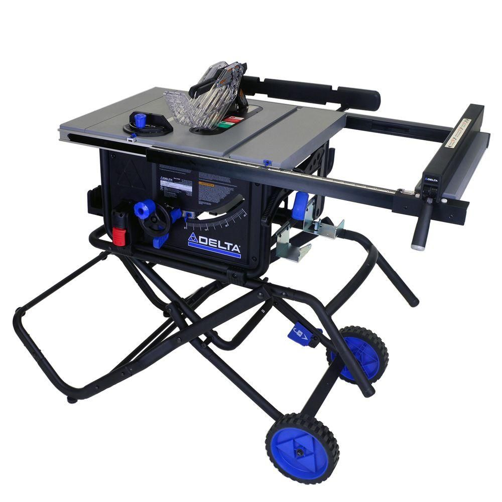 Delta 10 In 15 Amp Portable Table Saw With Folding Stand 36 6022