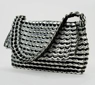 Francisca: Hand crocheted with over 500 recycled aluminum pop-tops / Escama Studio