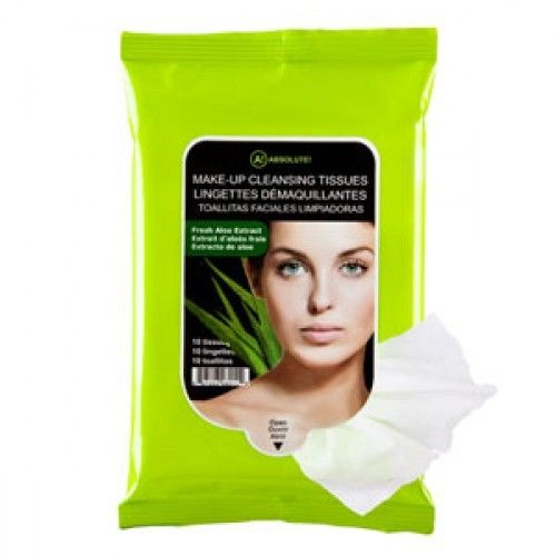 (3 Pack) NICKA K Make Up Cleansing Tissue - Aloe Carma Laboratories 00117-12 Bulk Stick Counter Dsp