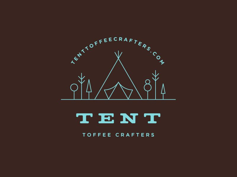 tent toffee crafters tent tent logo camp logo