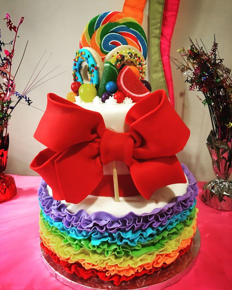 Jojo Siwa Cake Cake, Rainbow cake, Cake decorating