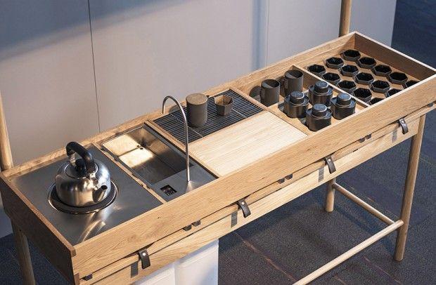 Mobile tea bar, concept de bar à thé mobile par Milk Design - Journal du Design