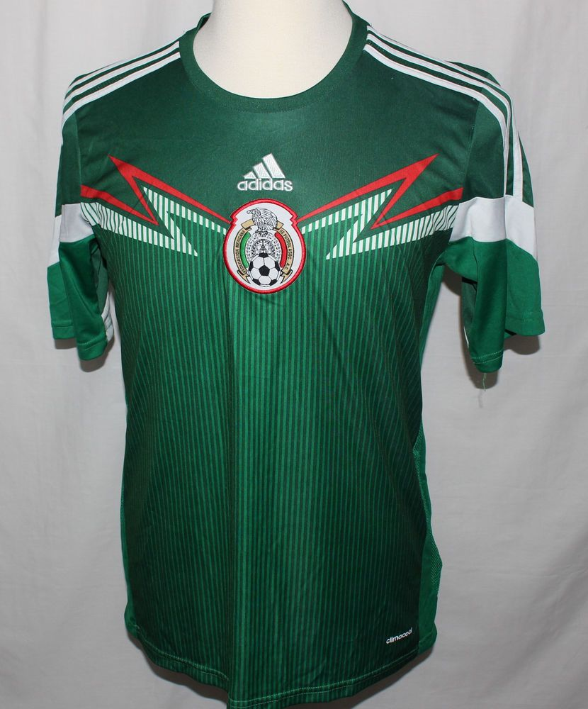 f540b6207ca Adidas MEXICO 2014 World Cup Home L Soccer Jersey Football Shirt Camiseta  Fútbol  adidas  Mexico