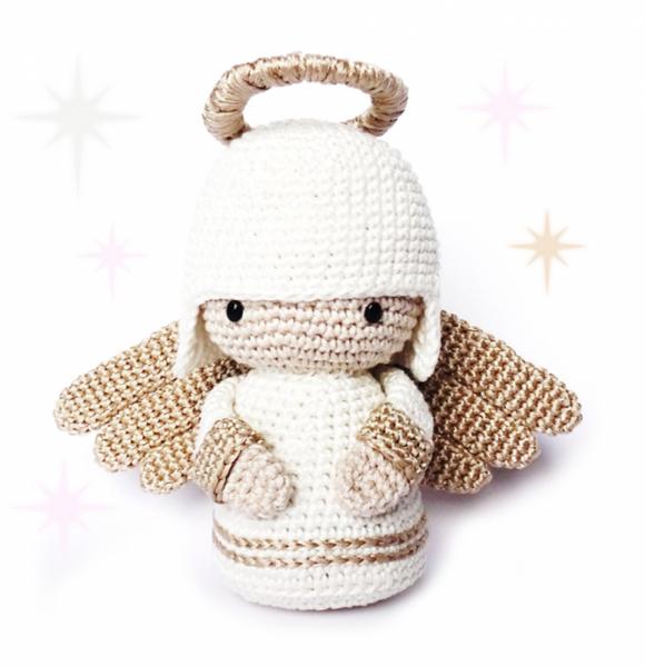 Christmas Angel Kokeshi Doll amigurumi pattern by RoKiKi | Ángeles ...