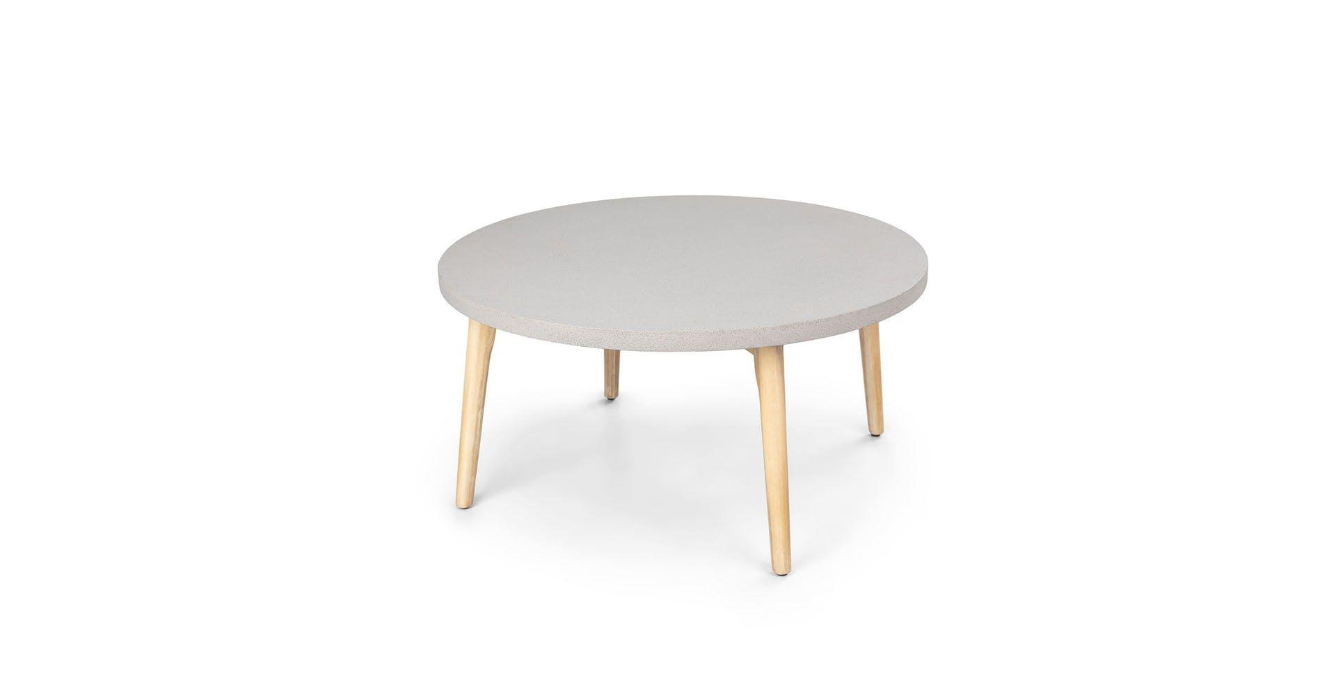 Atra Concrete Round Coffee Table Coffee Table Mid Century Modern Coffee Table Round Coffee Table [ 997 x 1920 Pixel ]