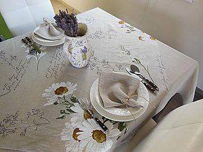 Úžitkový textil - Ľanový obrus Marguerite - 4424101_